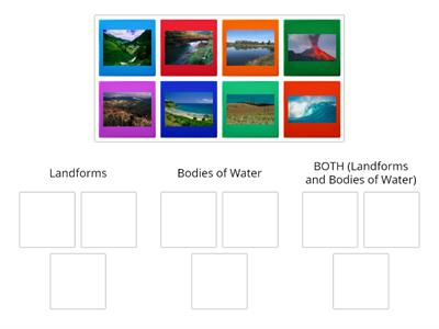 Landforms and Bodies of Water Sort