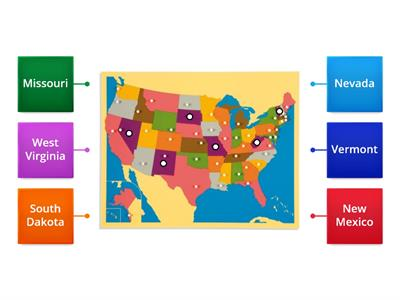 Unites States Montessori map puzzle (purple)