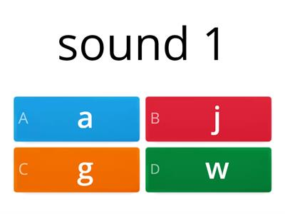 sound and letter