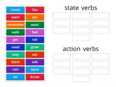 state verbs / action verbs