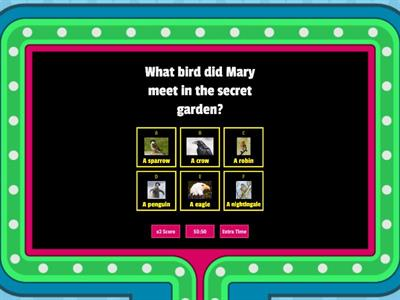 Fun Secret Garden Friday quiz By Natasha