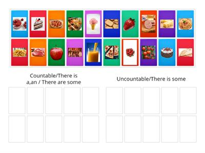 Food/countable and uncountable