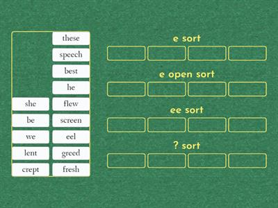 feature h: other common long vowels