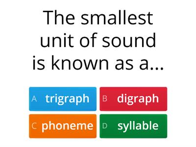 Self Test for CPD on Fresh Start - seesion 1 Phonics