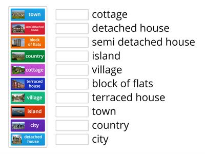 types of houses and places to live
