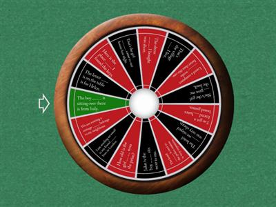 Defining Relative Clauses - Wheel