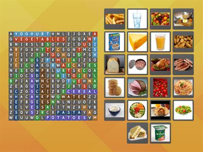 GG2 FOOD WORDSEARCH