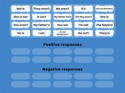 Recognise positive and negative responses