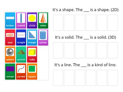 Me4a Math - Shapes and solids - sorting