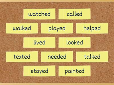 Past simple regular verbs: pronunciation