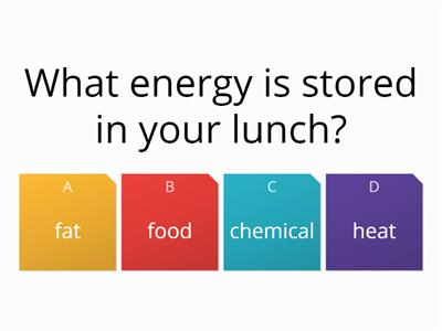 Types of energy quiz RCx