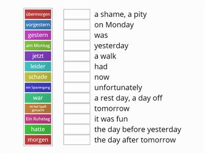 S2 German vocabulary revision Echo 2