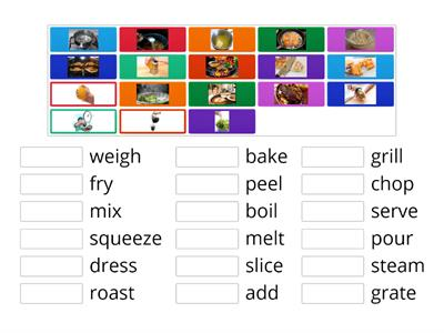 FOOD - COOKING VERBS