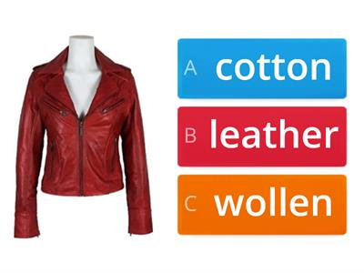 Cotton, wollen, leather