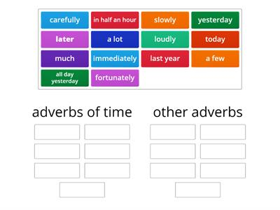 find adverbs of time