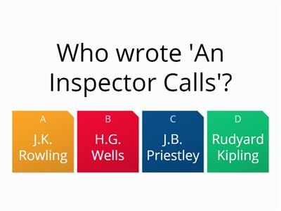 An Inspector Calls Opening Section Quiz