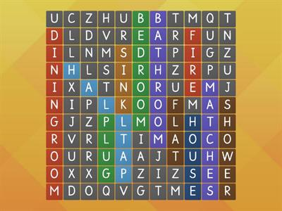 My home - wordsearch