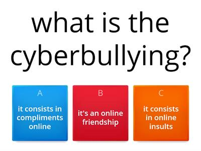 cyberbullying game made by Federica & Francesca