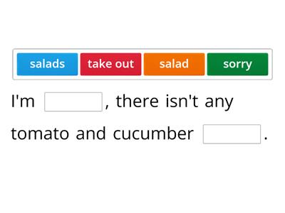 At the salad bar
