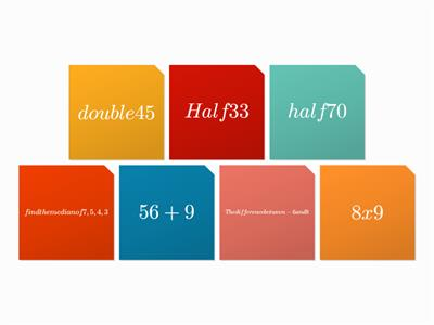 Maths tiles - random questions