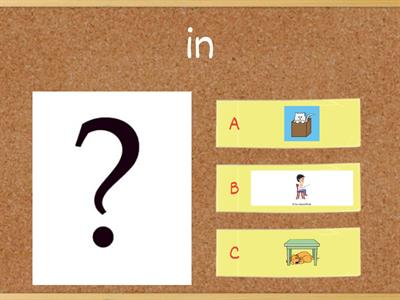 Prepositions - in, on, under