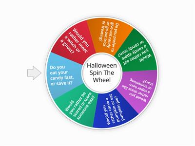 Halloween spin the wheel