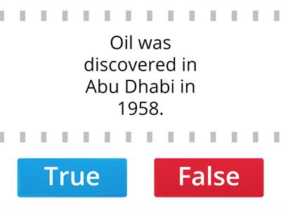 History of oil in the UAE.