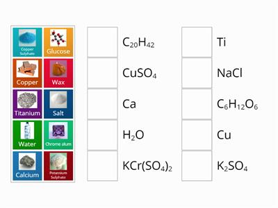 compounds and elements sort