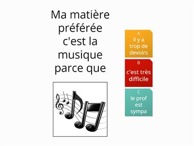 MFL - Year 9 - Unit 5 - Lesson 4 - C'est absurde quiz