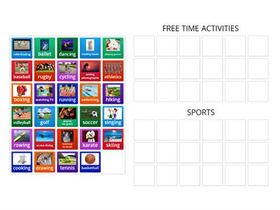 Free time activities and sports
