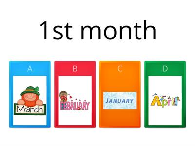order the Months of the year