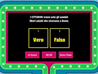 Roma: Monarchia e Repubblica (Gameshow quiz)