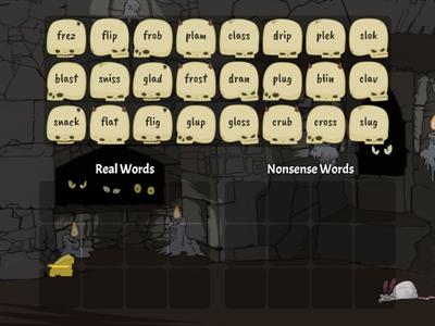 Real Words vs. Nonsense Words (CCVC)
