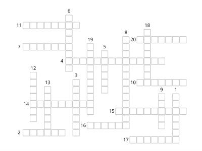 Face2Face Elementary Unit 1B Crossword