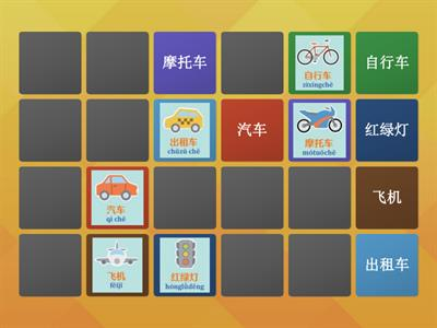 Vehicle & Transportation in Chinese