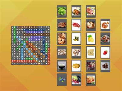 Brainy IV Unit 6 Vocabulary Food and Fruit, vegetables and others