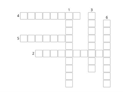 English Pilgrimage crossword Year 7