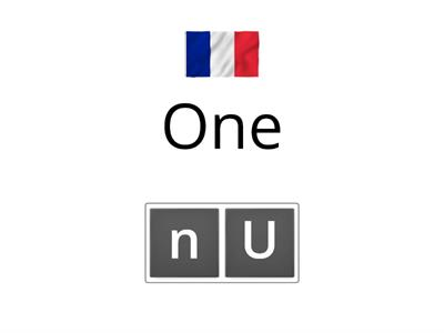 Numbers to 10 in French