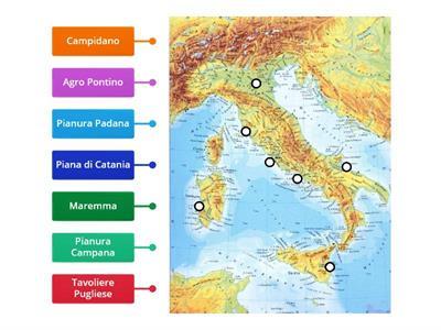 Cartina Italia Pianure.Le Pianure Italia Risorse Per L Insegnamento