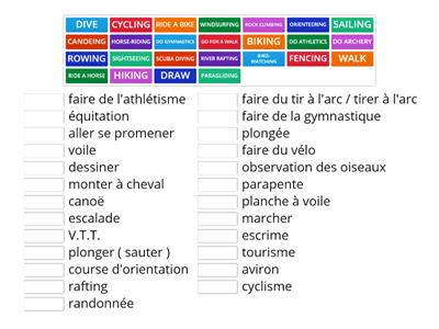FuN aCTiViTieS  - English to French