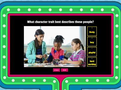 Character Traits Game - 1st Grade