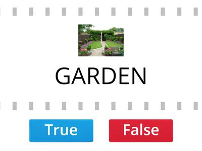 PARTS OF THE HOUSE TRUE - FALSE