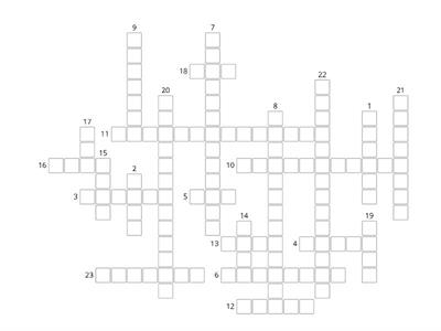 Crossword Unit 1a p 4-5