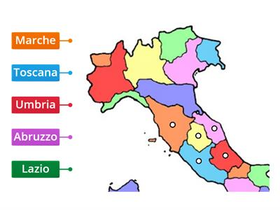 Cartina Italia Centrale E Meridionale.Mappa Italia Centrale E Meridionale
