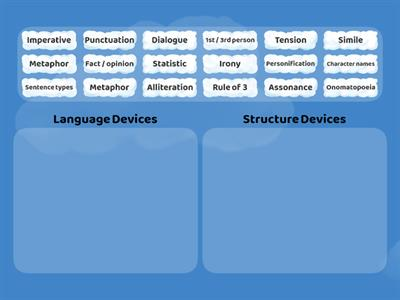 Language and structure devices