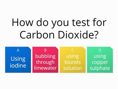 Unit 2B - Carbon Dioxide Quiz