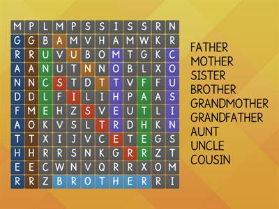 Find 9 family words!