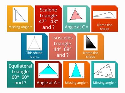 Flip tiles TRIANGLES