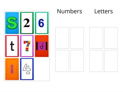 6.1A (writing) Can I seperate letters and numbers into different groups? (3)