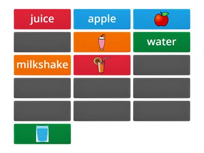 Food and Drinks memory game